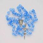 Różaniec kryształkowy romby niebieski