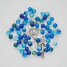 Różaniec Agat Niebieski 6 mm