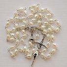Różaniec komunijny kostka perłowy