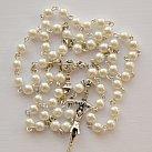 Różaniec komunijny perłowy kulka