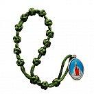 Koronka do Dzieciątka Jezus sznurek zielona