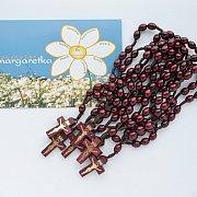 Margaretka Modlitwa za kapłanów zestaw drewno bordo