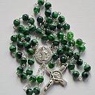 Różaniec kryształkowy kulka zielony Benedykt