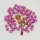 Różaniec Benedykt kolorowy amarantowy