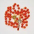 Różaniec Benedykt kolorowy pomarańczowy