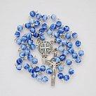 Różaniec kulka Benedykt niebiesko-biały