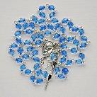 Różaniec kryształkowy niebieska nitka