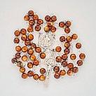 Różaniec kryształkowy kulka brązowy Benedykt