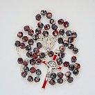 Różaniec kryształkowy melanż z Benedyktem