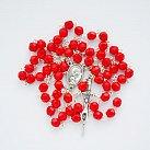 Różaniec kryształkowy czerwony matowy