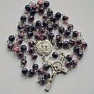 Różaniec kryształkowy kulka fioletowo-różowy