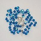 Różaniec kryształkowy niebieski z Matką Bożą Częstochowską