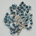 Różaniec kryształkowy kulka szaro-niebieska