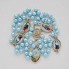 Różaniec z Matką Boską Fatimską błękit