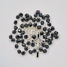 Różaniec kryształkowy czarny z Benedyktem