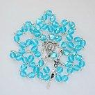 Różaniec kryształkowy niebieski opalizowany