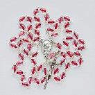 Różaniec kryształkowy bordowa nitka
