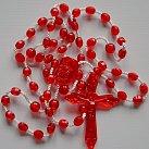 Różaniec plastik, kolor czerwony