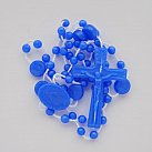 Różaniec plastikowy, niebieski z Niepokalaną
