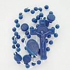 Różaniec plastikowy, granatowy z Benedyktem