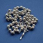 Różaniec srebrny kulka ryflowana mniejsza