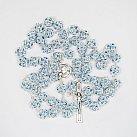 Różaniec z Kryształu Svarowskiego jasnoniebieski