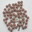 Różaniec z Kryształu Svarowskiego bordowy