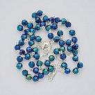 Różaniec z Kryształu Svarowskiego Irys niebieski