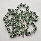 Różaniec z Kryształu Svarowskiego zielony