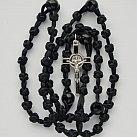 Różaniec sznurkowy czarny krzyżyk św. Benedykt