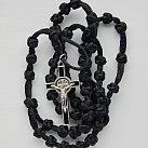 Różaniec sznurkowy czarny Benedykt