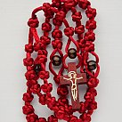 Różaniec sznurkowy duży bordo