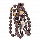 Różaniec sznurkowy brązowy Benedykt