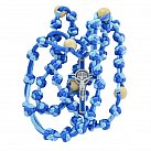 Różaniec sznurkowy niebieski mix Benedykt