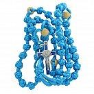 Różaniec sznurkowy błękitny Benedykt