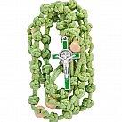 Różaniec sznurkowy duży zielony Benedykt