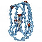 Różaniec sznurkowy jasnoniebieski Benedykt