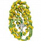 Różaniec sznurkowy żółto-zielony Benedykt