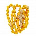 Różaniec sznurkowy duży żółty