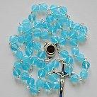 Różaniec z Ziemią Święta, niebieski