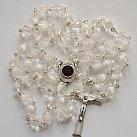 Różaniec z Ziemią Święta, biały