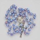 Różaniec z Ziemią Święta, niebieski mix