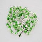 Różaniec z Ziemią Święta, zielono-przezroczysty