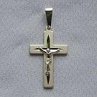 Krzyżyk srebrny diamentowany wzór 4