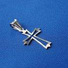 Krzyżyk srebrny diamentowany wzór 6