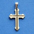 Krzyżyk srebrny diamentowany wzór 5