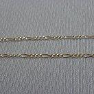 Łańcuszek srebrny figaro 50 cm