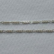 Łańcuszek srebrny figaro diamentowany 50 cm