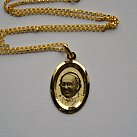 Medalik pozłacany papież Franciszek