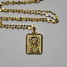 Medalik pozłacany Matka Boska z Dzieciątkiem